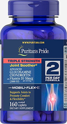 Puritan's Pride Triple Strength Glucosamine Chondroitin with Vitamin D3-160 ()