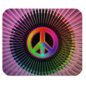 Colorful Peace Logo Personalized Rectangle Mouse Pad