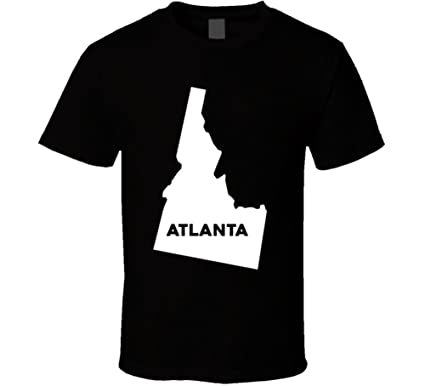 Amazon Com Atlanta Idaho City Map Usa Pride T Shirt Clothing