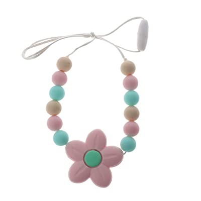 YOUSIKE Baby Teething Necklace for Mom, Silicone Teething Beads, Chew Beads, Drooling & Teething Pain Reduce Properties - Neutral Baby Shower Gift for Boy and Girl with The Highest Quality (BPA Free) : Baby