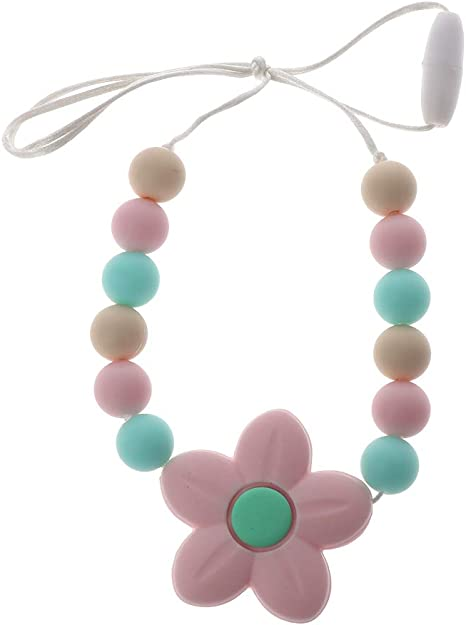 Chain Baby Teething Nursing Necklace Teether Cute BPA-Free Beads Silicone
