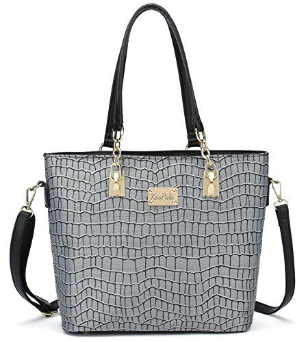 Shoulder Women Bag Gray Set a Tote Purse and Bag Bag Handbag for 6 Piece Work 44awqr