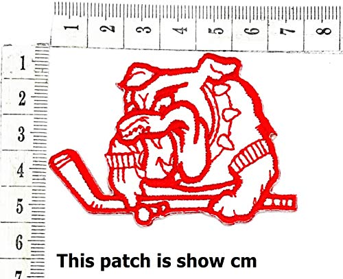 Bulldog Pitbull Dog Pet Sports Golf Clubs Cartoon Chidren Kids Embroidren Iron Patch/Logo Sew On Patch Clothes Bag T-Shirt Jeans Biker Badge Applique