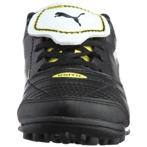 Puma Esito Finale TT Jr 102017 Unisex - Kinder Sportschuhe - Fußball Schwarz/Black-White-Fluo Yellow