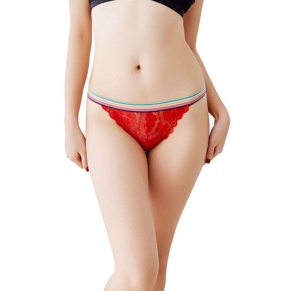 Tangas para mujer,BBestseller Braguitas de encaje sexy para mujer ropa interior de cintura baja bordado Briefs Calzoncillos para mujer (Amarillo): ...