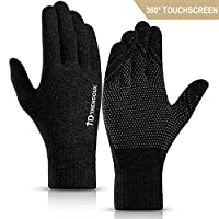 TRENDOUX Touch Screen Winter Gloves - Unisex Glove Anti-Slip Silicone Gel - Elastic Cuff - Thermal Soft Wool Lining - Stretchy Material