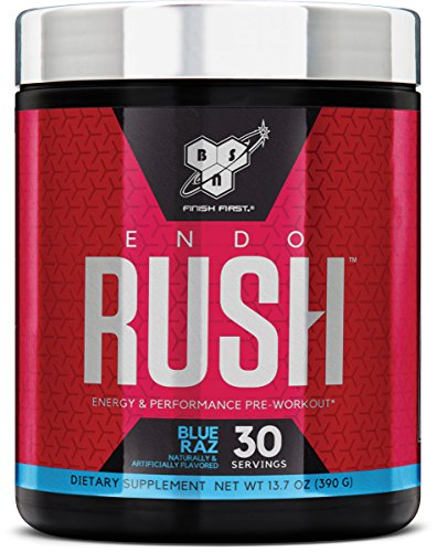 BSN Endorush Energy & Performance Pre-workout Powder With Creatine, 30 Servings, Blue Raspberry, 13.7 (Pump Pre Workout Creatine)