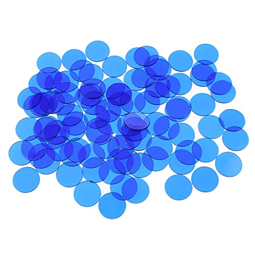Dovewill 500Pcs Plastic 19mm Bingo Chips Markers for Bingo Game Poker Cards Kids Counters Toys Christmas Gift Blue by Dovewill (Image #6)