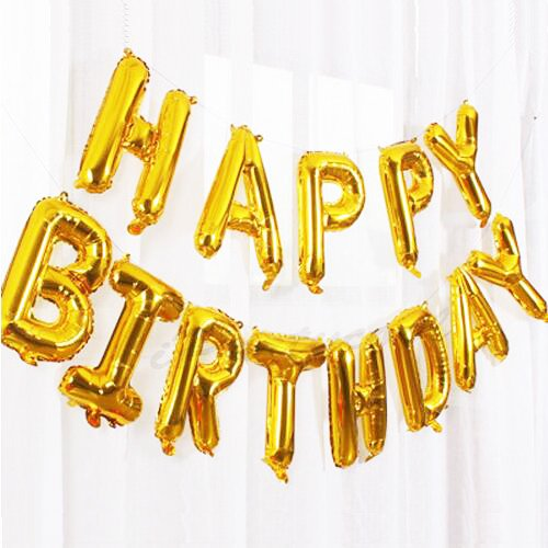 Happy Birthday Balloons,Aluminum Foil Banner Balloons for Birthday Party Decorations and Supplies (Birthday Balloon)