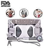 Patented FDA Guaranteed New Medical Waist Lumbar Traction Device Portable Home,Therapy Unit Provide Relief for Fatigue Back Pain and Soreness,Lower Limb Numbness and Pain-XL#