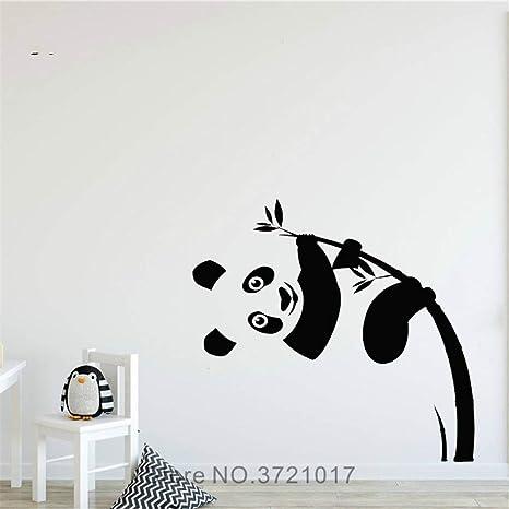JXYY Panda Tatuajes de Pared Panda Lindo Escalada de Bambú ...