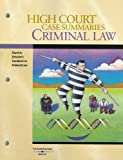 Dressler : High Court Case Summaries on Criminal Law, Blatt, Dana L., 0314156046