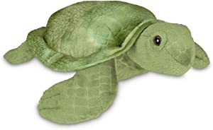 Bearington Shelton Plush Sea Turtle Stuffed Animal, 12 Inches