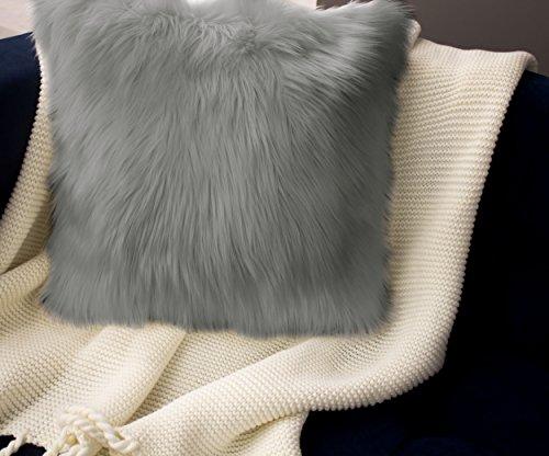 (Jean Pierre Faux-Fur 2 Piece Decorative Pillow, 18
