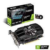 ASUS GeForce GTX 1650 4GB Phoenix Fan Overclocked Edition HDMI DP DVI Graphics Card (PH-GTX1650-O4G)