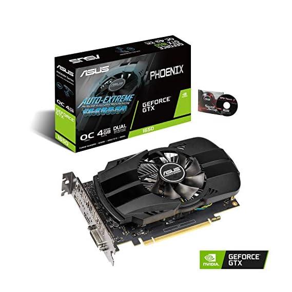Asus TUF Gaming GeForce GTX 1650 Super Overclocked 4GB Edition HDMI DP DVI Gaming Graphics Card (TUF-GTX1650S-O4G-GAMING