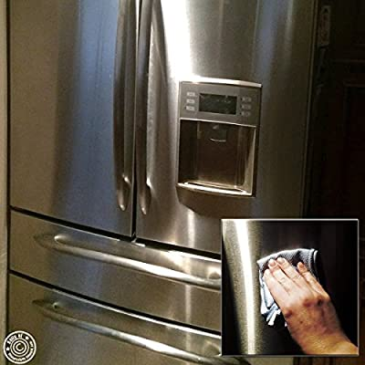 Pro Chef Kitchen Tools Stainless Steel Appliance Polishing Cloth - Clean and Polish Appliances, Counters, Fridge Doors, Sinks, Windows with Easy Wipes Using Dry, Damp or with Cleaners