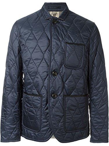 Burberry Brit Men's Gillington Blue Quilted Jacket Large (Burberry Quilted Jacket)
