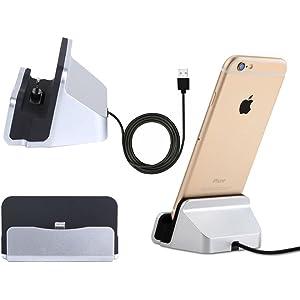 47b7f36166 iPhone 充電スタンド アイフォン, iphone 充電器ドック USBケーブル付き スタンド iPhone X/