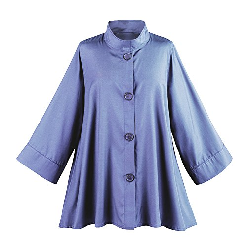 Women's Iridescent Fashion Swing Jacket - Button Down - Lavender - Xxl