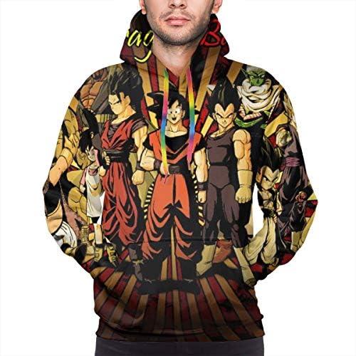 Men Goku パーカー おしゃれ セーター カジュアル 通学 長袖 スウェットシャツ トップス フード付き ポケット カジュアルジャケット フーディ