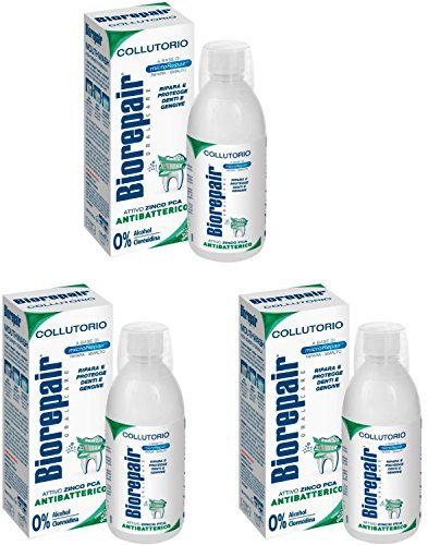 Biorepair: '' Collutorio '' Mouthwash with Antibacterical - 500ml/16.9 fl.oz - Pack of 3 by Biorepair