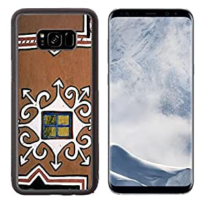Liili Premium Samsung Galaxy S8 Plus Aluminum Backplate Bumper Snap Case IMAGE ID: 24874729 Decorated mud wall of a traditional South African Basuthu hut