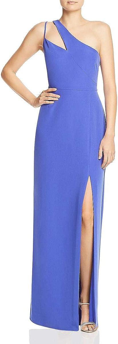 Laundry by Shelli Segal Womens One Shoulder Side Slit Evening Dress