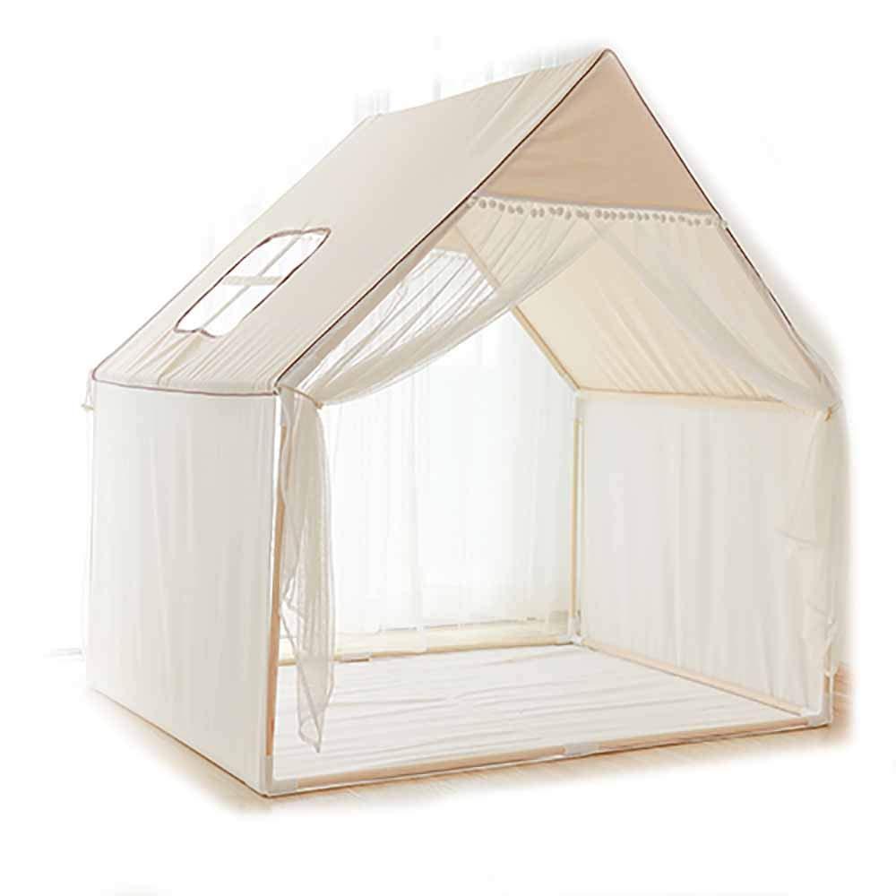 生地子供のテント屋内プレイハウス幼稚園テント小さな家のおもちゃの家 B07TM1SJ87