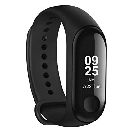 Mini Relógio Xiaomi Mi Band 3 Smart Watch Para Android, Ios Preto