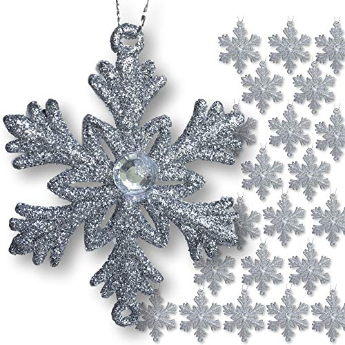 BANBERRY DESIGNS Small Silver Snowflakes - 2 ½