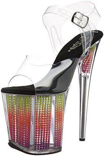 Neon Pleaser Clr 808srs Flamingo Transparent Multi Srs Sandales Femme Plateforme CqvRSwfqx