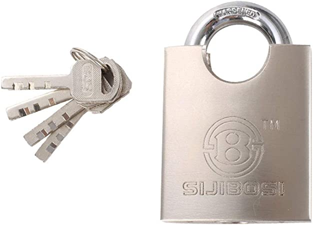 Cadenas haute s/écurit/é corps de fer blind/é 3 cl/és incluses cadenas robuste