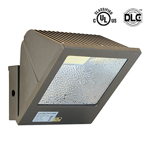 SGL 60W 5000K LED Wall Waterproof Flood Light, IP65, UL and DLC-Qualified, 5800 Lumens, 240W HPS/MH Replacement, Daylight White (Exterior Lighting Commercial compare prices)