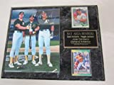 Mark McGwire Reggie Jackson Jose Canseco 2 Card Collector Plaque w/8x10 Photo