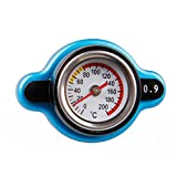 Sporacingrts Big Head Temperature Gauge with Utility Safe 0.9 Bar Thermo Radiator Cap Tank Cover