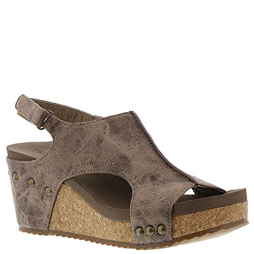 Corkys London Women's Sandal (9 B(M) US, Brown Distressed) ()