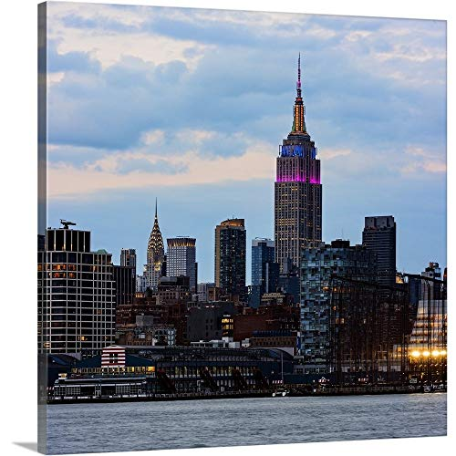 Empire State Building and Chrysler Building Canvas Wall Art Print, 12