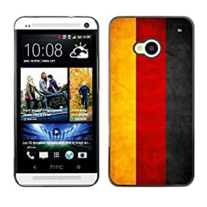 Shell-Star ( National Flag Series-Germany ) Snap On Hard Protective Case For HTC One (M7)