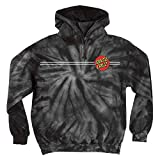 Santa Cruz Mens Classic Dot Hoody Pullover Sweatshirt Large Spider Black