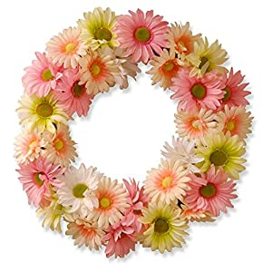 National Tree Company 19 in. Garden Accents Cosmos Wreath 21