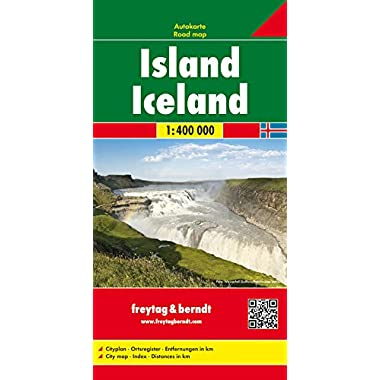Iceland Road Map (Country Road & Touring) (Italian, German, English and French Edition)