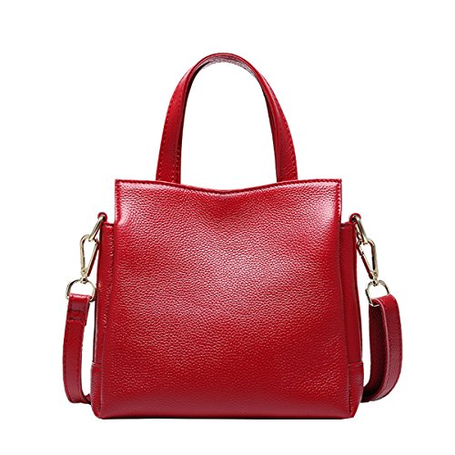 Leather Wine Red Fashion DISSA Bag Women Handbag VQ0878 Shoulder Casual OqA7Eq