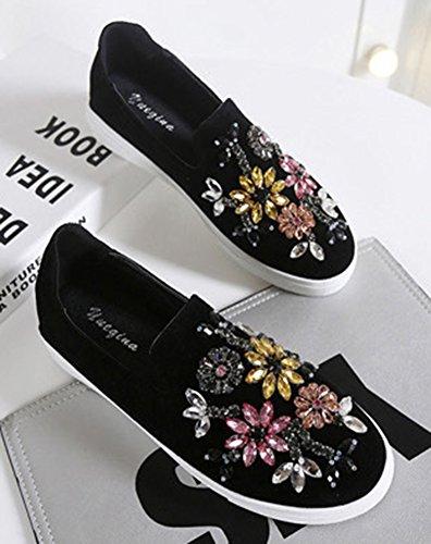 Strass Slip Mode Aisun On Noir Femme Sneakers t8EwqqxnpR