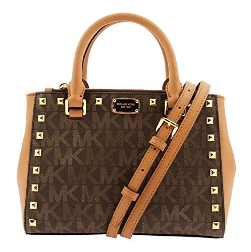 Michael Kors Kellen Studded Extra Small Satchel (Brown / Acorn)
