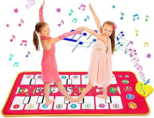 Keyboard Matten Spielteppich f/ür Jungen M/ädchen Kinder 105*51 cm Homealexa Klaviermatte Kinder Piano Mat Tanzmatten Musikmatte mit 7 Tierstimmen Klaviertastatur Spielzeug Musik Matte