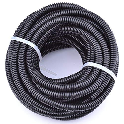 30FT Polypropylene Split Wire Loom Tubing Computer Cable Management Wire Cover Electrical Cord Hider Hose Protector Prevent Chewing Tube ((5/8