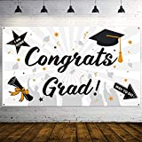 """WATINC Graduation Background Banner 78"""" x 45"""" Extra Large Backdrops 2020 Congrats Grad Congratulations I Am Done Diploma Way to Go Party Decorations Supplies for Indoor Outdoor Photo Booth Props"""