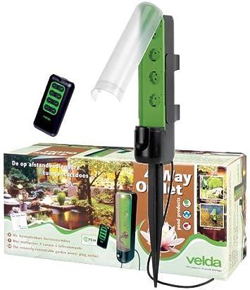 velda 4 way OUTLET 4-FACH de jardín toma de mando a distancia: Amazon.es: Electrónica