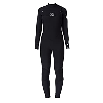 RIP CURL Womens Flashbomb 5/3mm Chest Zip WSM4GG Wetsuit Black Sizes- - Ladies
